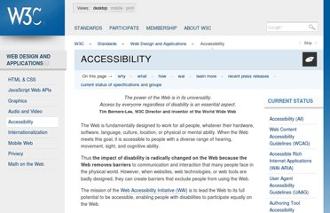 http://www.w3.org/standards/webdesign/accessibility