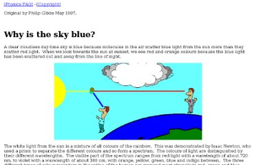 http://math.ucr.edu/home/baez/physics/General/BlueSky/blue_sky.html