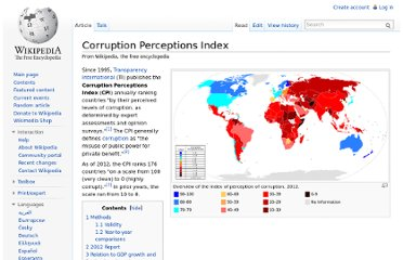 http://en.wikipedia.org/wiki/Corruption_Perceptions_Index#Rankings
