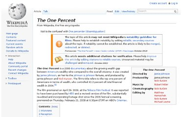 http://en.wikipedia.org/wiki/The_One_Percent