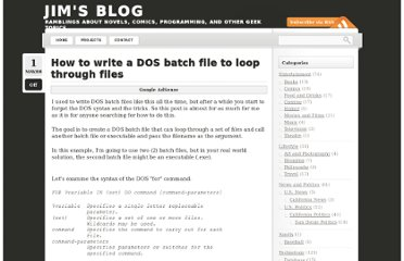 http://www.jamesewelch.com/2008/05/01/how-to-write-a-dos-batch-file-to-loop-through-files/