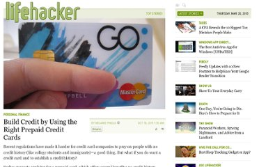 http://lifehacker.com/5850711/build-credit-by-using-the-right-prepaid-credit-cards