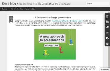 http://googledocs.blogspot.com/2011/10/fresh-start-for-google-presentations.html
