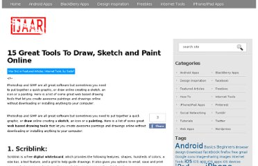 http://ijaar.com/15-great-tools-to-draw-sketch-and-paint-online/