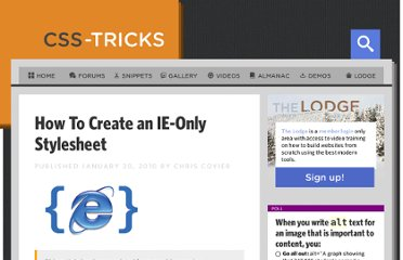 http://css-tricks.com/how-to-create-an-ie-only-stylesheet/