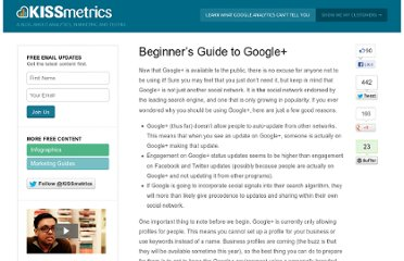 http://blog.kissmetrics.com/beginners-guide-to-google-plus/