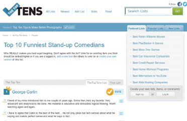 http://www.the-top-tens.com/lists/the-funniest-stand-up-comedians.asp