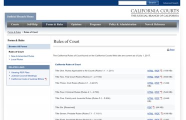 http://www.courts.ca.gov/rules.htm