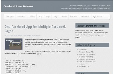 http://fbshops.co.uk/facebook-design-tips/one-facebook-app-multiple-facebook-pages/