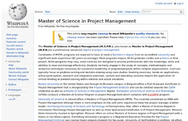 http://en.wikipedia.org/wiki/Master_of_Science_in_Project_Management
