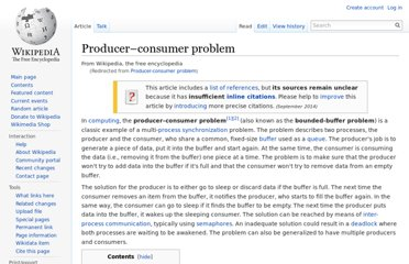 http://en.wikipedia.org/wiki/Producer-consumer_problem