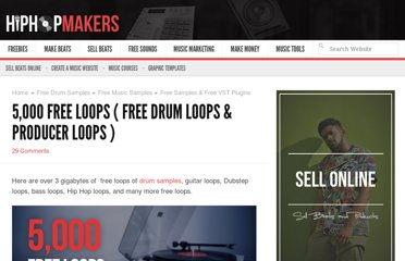 http://hiphopmakers.com/free-loops-drum-loops-guitar-loops-orchestra-loops-heavy-metal-loops