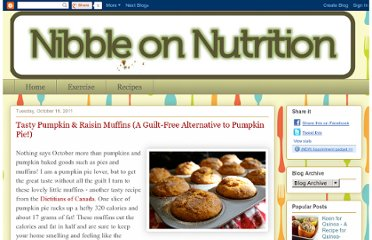 http://nibbleonnutrition.blogspot.com/2011/10/tasty-pumpkin-raisin-muffins-guilt-free.html