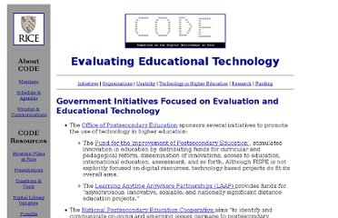 http://code.rice.edu/edueval.html