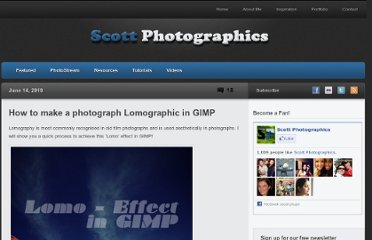 http://www.scottphotographics.com/how-to-make-a-photograph-lomographic-in-gimp/