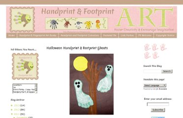 http://funhandprintart.blogspot.com/2011/10/halloween-handprint-footprint-ghosts.html