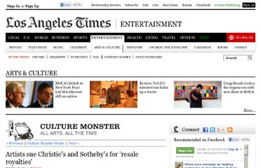 http://latimesblogs.latimes.com/culturemonster/2011/10/artists-sue-christies-and-sothebys-for-resale-royalties.html