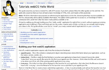 http://www.webos-internals.org/wiki/Tutorials_webOS_Hello_World