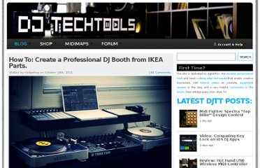 http://www.djtechtools.com/2011/10/16/how-to-create-a-professional-dj-booth-from-ikea-parts/