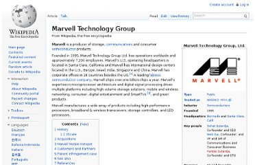 http://en.wikipedia.org/wiki/Marvell_Technology_Group