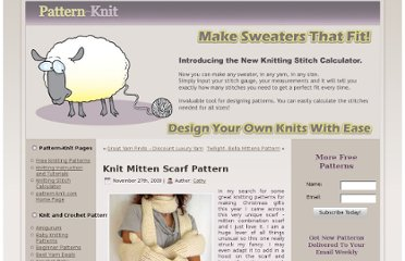 http://www.pattern-knit.com/knitting-blog/knitting-patterns/scarf-patterns-knitting-patterns/knit-mitten-scarf-pattern