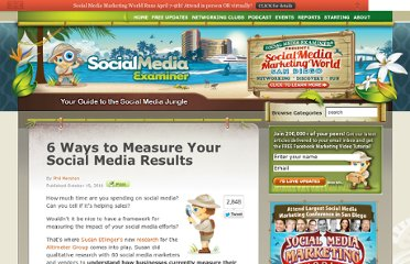 http://www.socialmediaexaminer.com/6-ways-to-measure-your-social-media-results/
