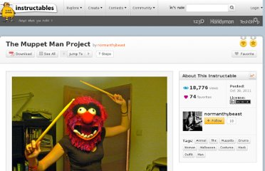 http://www.instructables.com/id/The-Muppet-Man-Project/