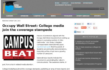 http://www.usatodayeducate.com/staging/index.php/campus-beat/college-media-coverage-occupy-wall-street