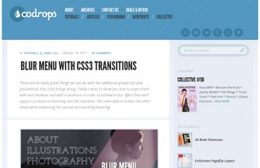 http://tympanus.net/codrops/2011/10/19/blur-menu-with-css3-transitions/