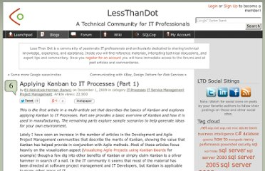 http://blogs.lessthandot.com/index.php/ITProfessionals/ITProcesses/applying-kanban-to-it-processes-part-1