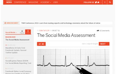 http://thenextweb.com/socialmedia/2011/10/19/the-social-media-assessment/