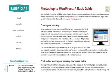 http://randaclay.com/how-to/photoshop-to-wordpress-a-basic-guide/