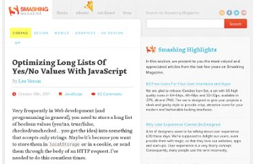 http://coding.smashingmagazine.com/2011/10/19/optimizing-long-lists-of-yesno-values-with-javascript/