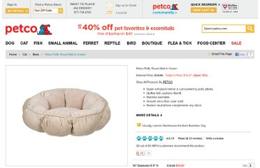 http://www.petco.com/product/109118/Petco-Puffy-Round-Bed-in-Cream.aspx