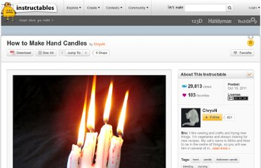 http://www.instructables.com/id/How-to-Make-Hand-Candles/