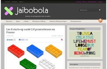 http://www.jaibobola.fr/2011/04/start-up-sante-20-france.html