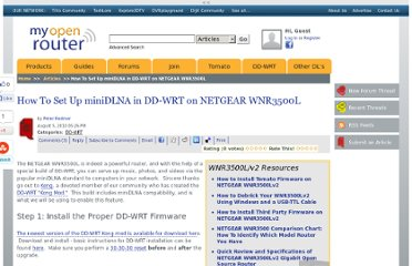 http://www.myopenrouter.com/article/21644/How-To-Set-Up-miniDLNA-in-DD-WRT-on-NETGEAR-WNR3500L/