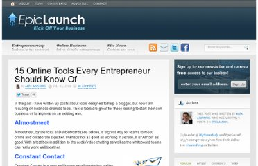 http://epiclaunch.com/15-online-tools-every-entrepreneur-should-know-of/
