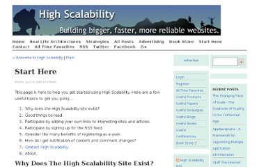http://highscalability.com/start-here/