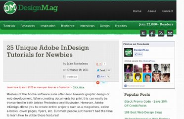 http://designm.ag/tutorials/25-unique-adobe-indesign-tutorials-for-newbies/