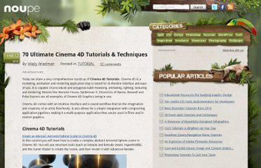 http://www.noupe.com/tutorial/70-ultimate-cinema-4d-tutorials-techniques.html