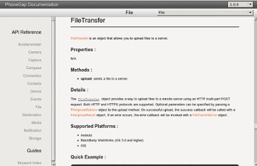 http://docs.phonegap.com/en/1.0.0/phonegap_file_file.md.html#FileTransfer