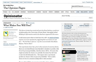 http://opinionator.blogs.nytimes.com/2011/10/19/what-makes-free-will-free/