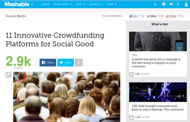 http://mashable.com/2011/10/20/crowdfunding-platforms-social-good/