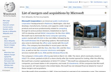 http://en.wikipedia.org/wiki/List_of_mergers_and_acquisitions_by_Microsoft