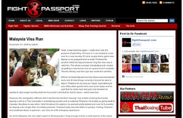 http://fightpassport.com/muay-thai-training-journals/malaysia-visa-run/