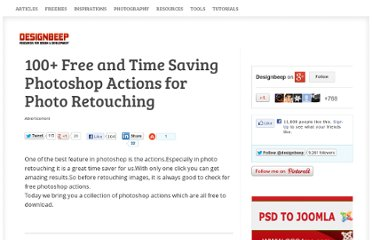 http://designbeep.com/2011/10/03/100-free-and-time-saving-photoshop-actions-for-photo-retouching/