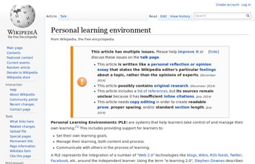 http://en.wikipedia.org/wiki/Personal_learning_environment
