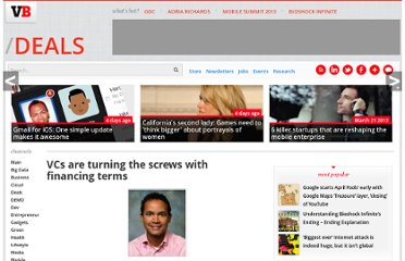http://venturebeat.com/2009/04/18/vcs-are-turning-the-screws-with-financing-terms/