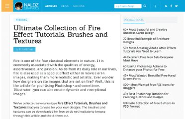 http://naldzgraphics.net/freebies/ultimate-collection-of-fire-effect-tutorials-brushes-and-textures/